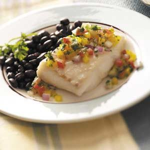 Halibut with Vegetable Salsa