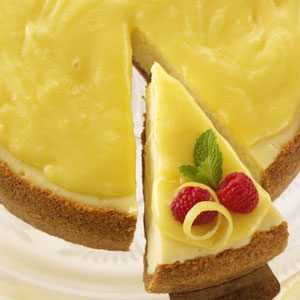 Golden-Glazed Lemon Cheesecake