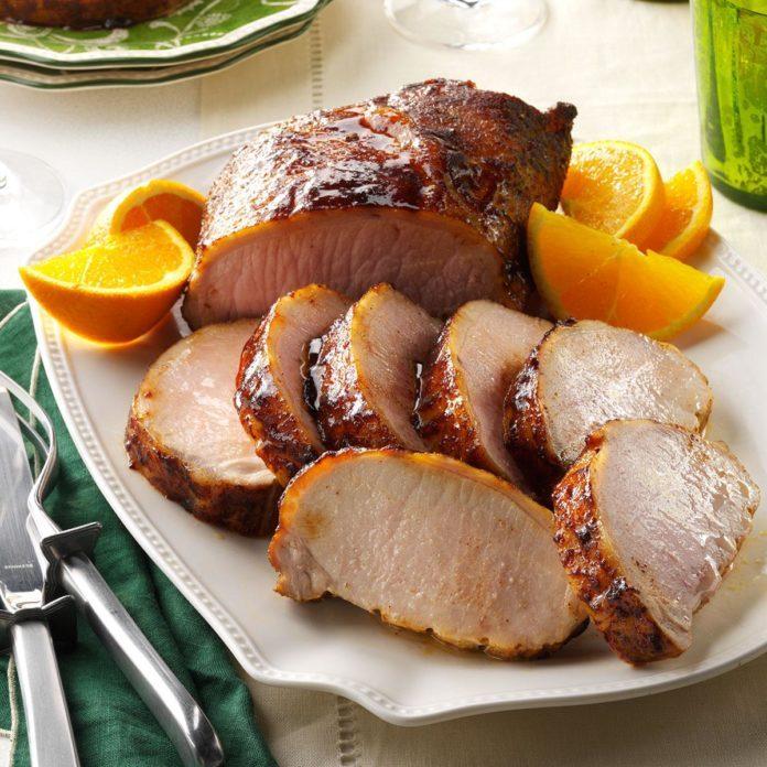 April 7: Honey-Orange Glazed Pork Loin