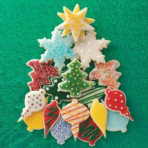 Christmas Cut Out Cookies House Cookies