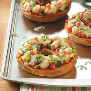 Tropical Bagel Pizzas