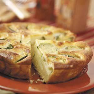Fluffy Zucchini Quiche