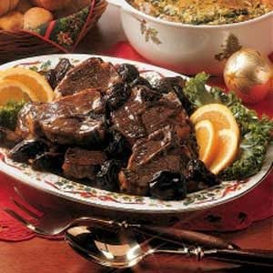 Lamb Chops with Prunes