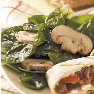 Zesty Spinach Mushroom Salad