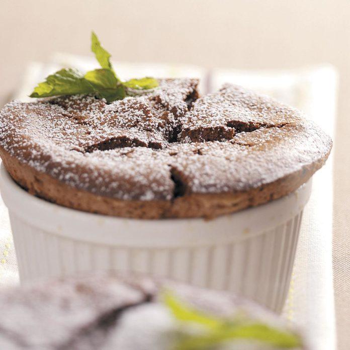 Chocolate Mint Souffles