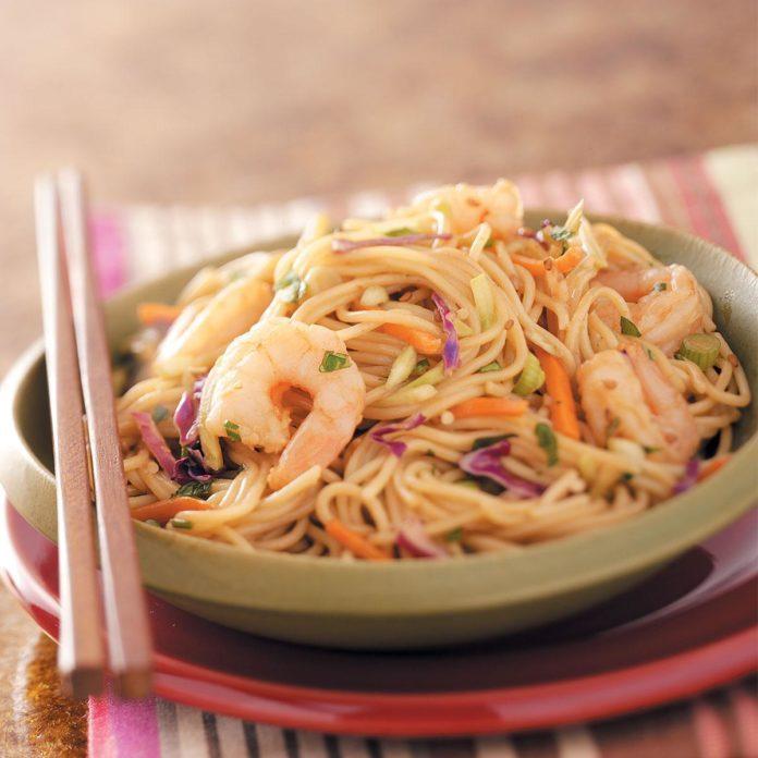 Shrimp 'n' Noodle Bowls
