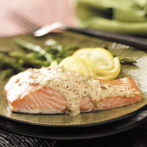 Chipotle-Sparked Mustard Salmon