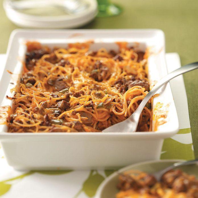 Spaghetti Beef Casserole