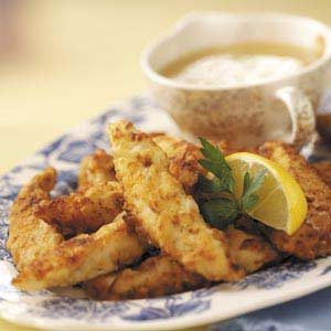 Chicken Fingers with Lemon Sauce