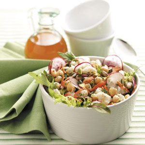 Chickpea Crab Salad with Citrus Vinaigrette