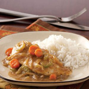 Saucy Chicken with Veggies and Rice
