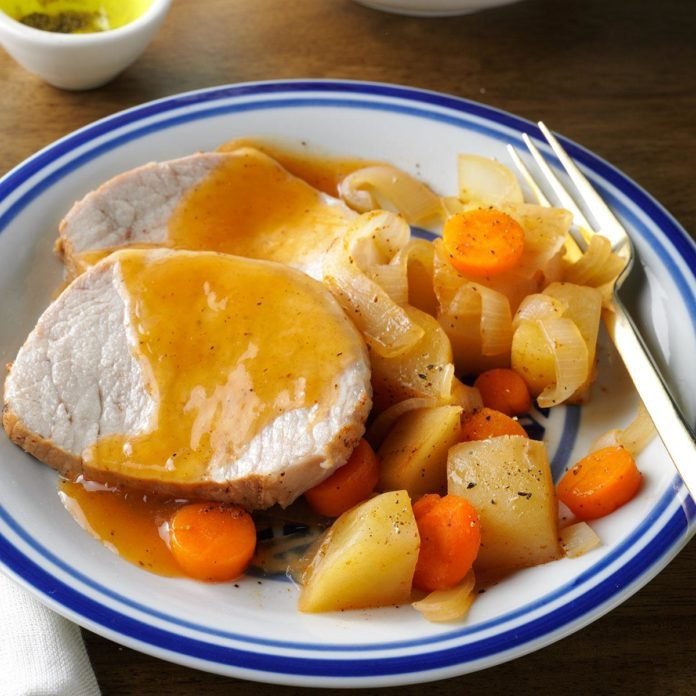 Slow-Cooked Pork Roast Dinner