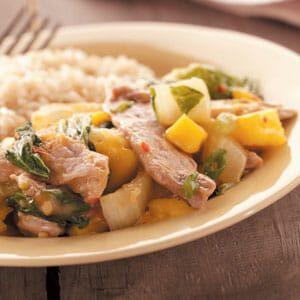 Mango Pork Stir-Fry