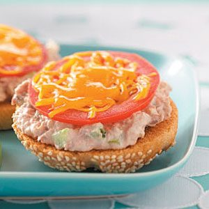 Open-Faced Tuna Melts