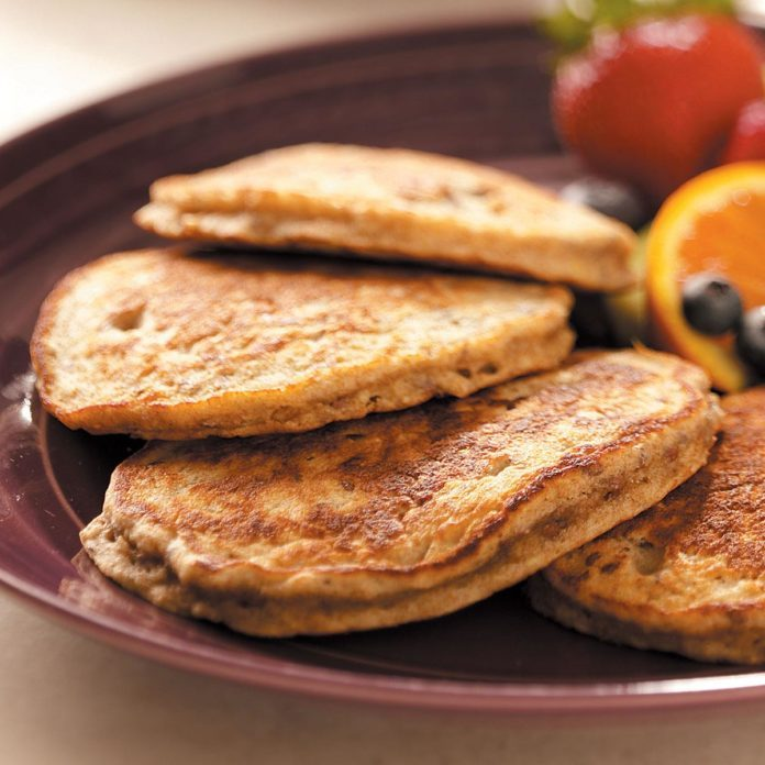 Day 4 Breakfast: Flaxseed Oatmeal Pancakes