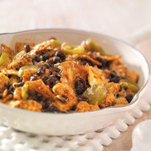Southwest Tortilla-Turkey Skillet