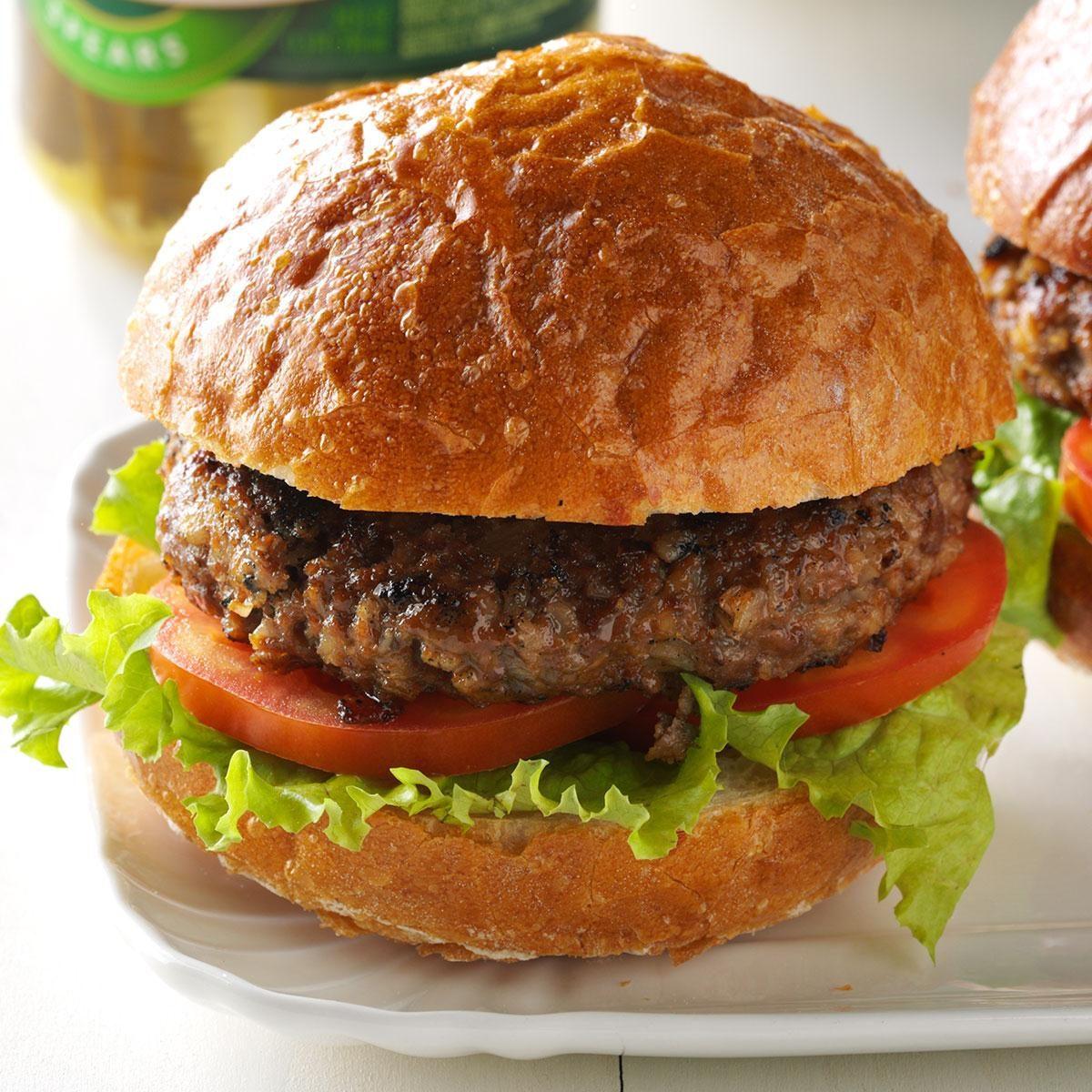 Barley Beef Burgers Recipe | Taste of Home