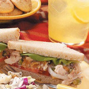 Apricot-Pistachio Chicken Salad Sandwiches