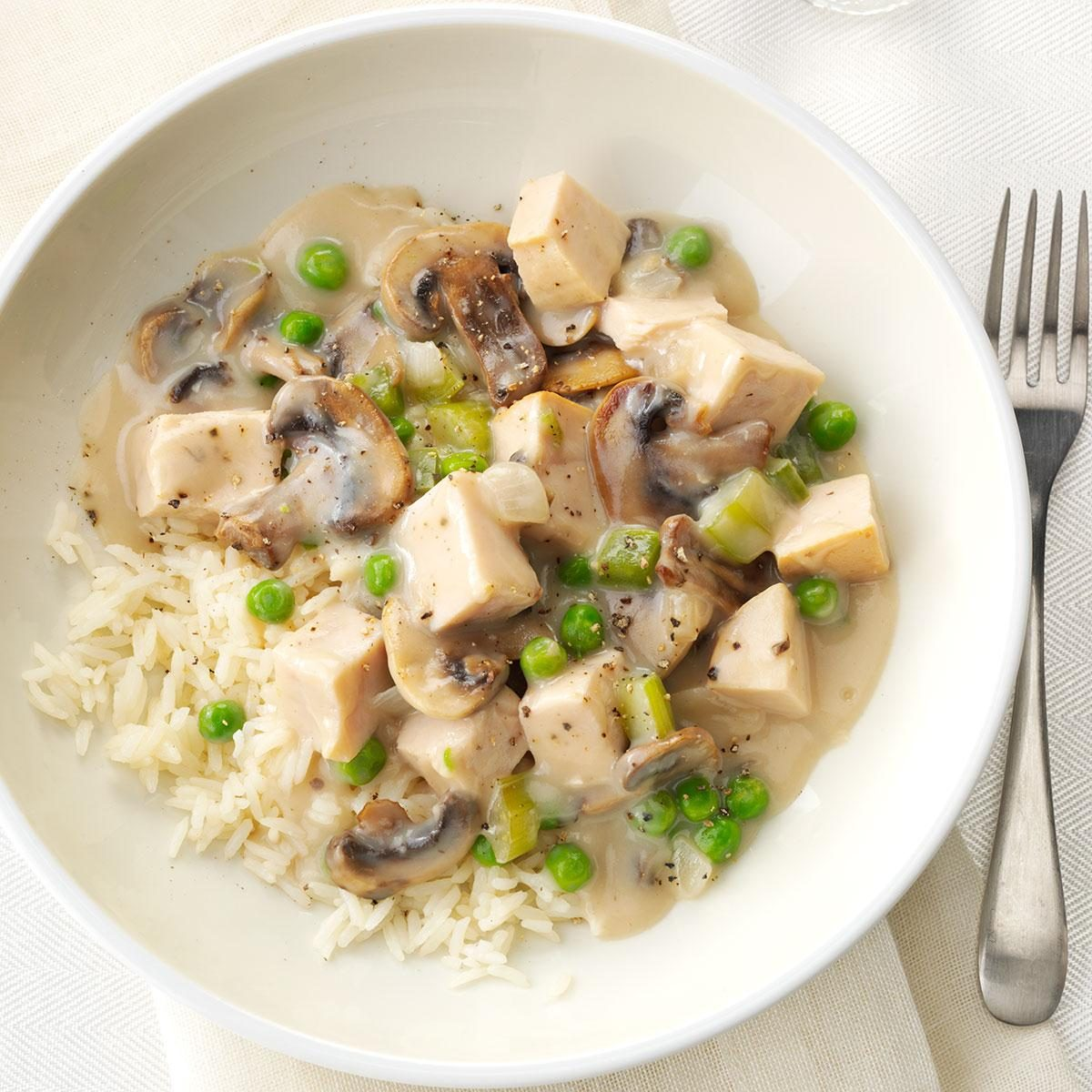 Turkey A La King With Rice Recipe Taste Of Home