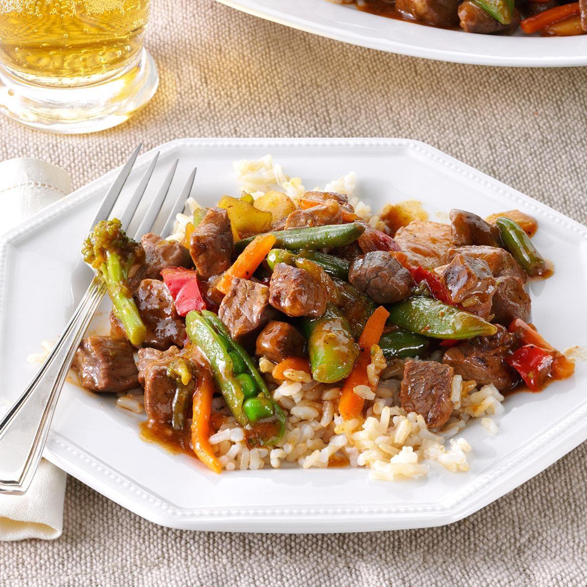 Stir Fried Steak Veggies Recipe