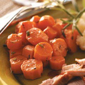 Glazed Carrots with Rosemary
