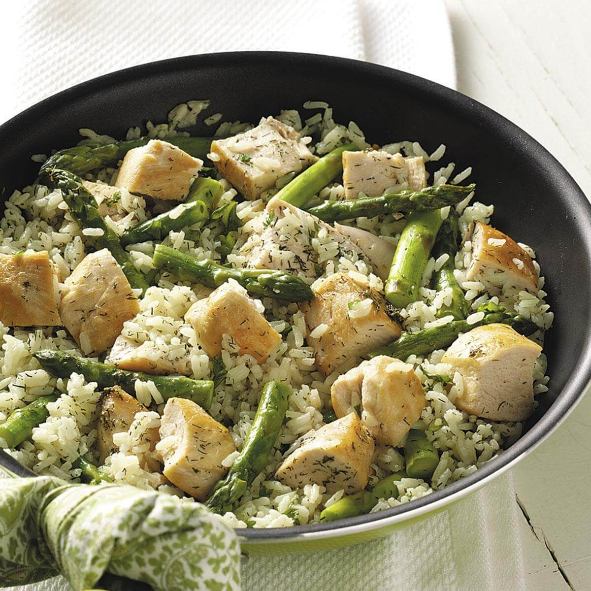 Dilled Chicken And Asparagus Recipe Taste Of Home
