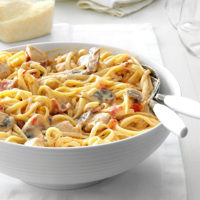 Chicken-Pepper Alfredo