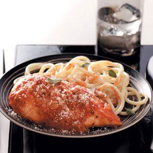 Saucy Parmesan Chicken