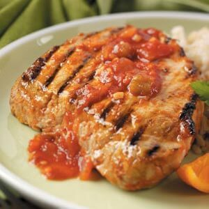 Orange Picante Pork Chops