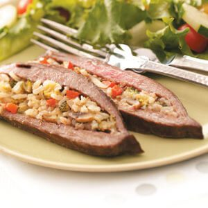 Rice-Stuffed Flank Steak