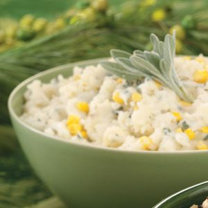 Sage Mashed Potatoes with Corn