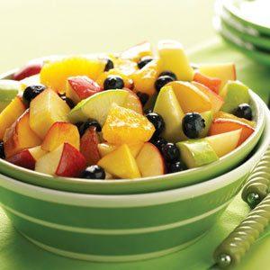 Fruit Salad with O.J. Reduction