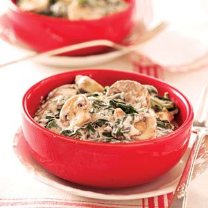 Creamed Spinach and Mushrooms
