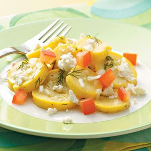 Summer Squash and Tomato Side Dish with Feta