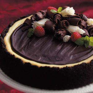 Triple-Layer Chocolate Cheesecake