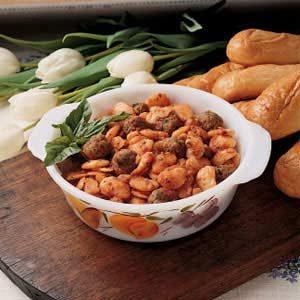 Lima Beans with Pork Sausage