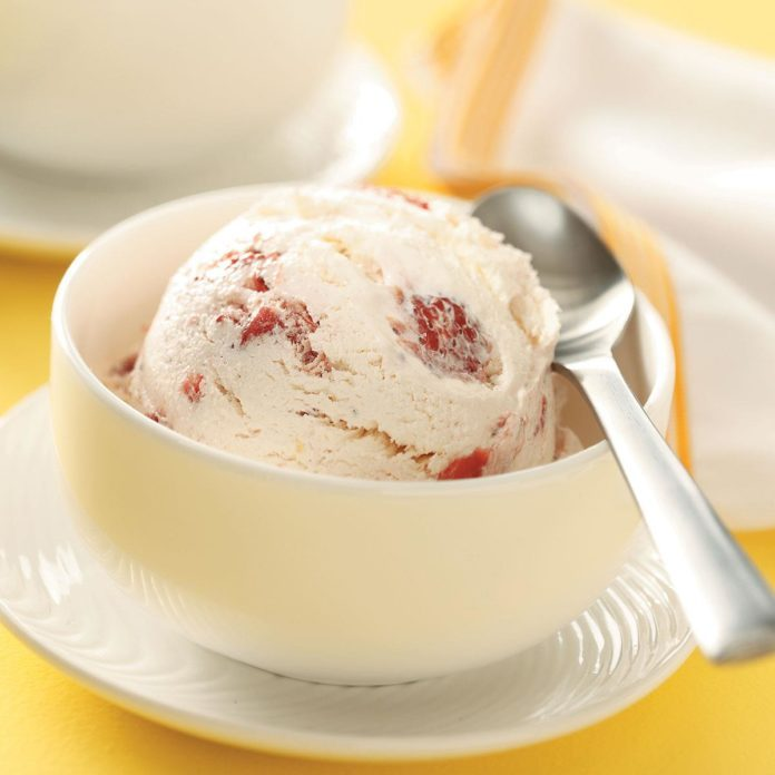 Contest-Winning Strawberry Cheesecake Ice Cream