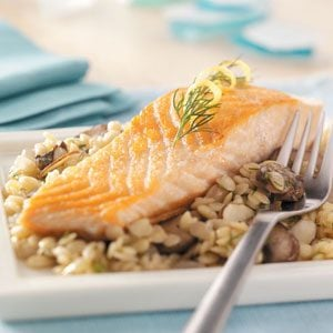 Salmon with Herb and Cirtus Orzo