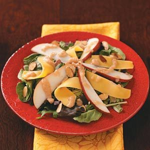 Harvest Salads with Pear Vinaigrette