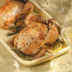 Spit Roasted Lemon Rosemary Chicken