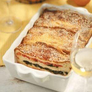 Spinach and Tomato Strata