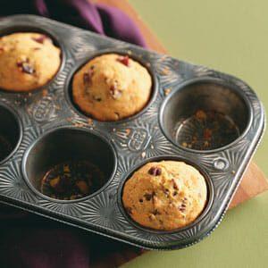 Cranberry-Pecan Corn Muffins