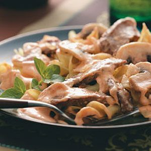 Hearty Beef Stroganoff Recipe Taste Of Home