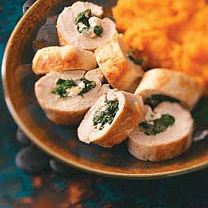 Lemony Spinach-Stuffed Chicken Breasts