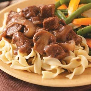 Beef with Red Wine Gravy