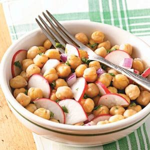 Radish & Garbanzo Bean Salad