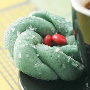 Festive Wreath Cookies