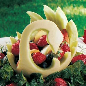 Melon Swan Fruit Bowl