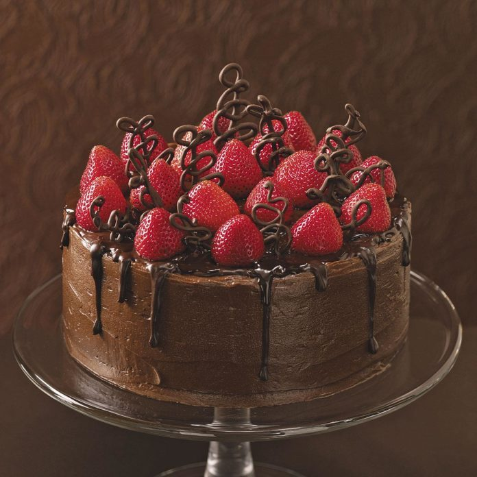 chocolate wedding cake from box mix chocolate strawberry celebration cake recipe taste of home 12760