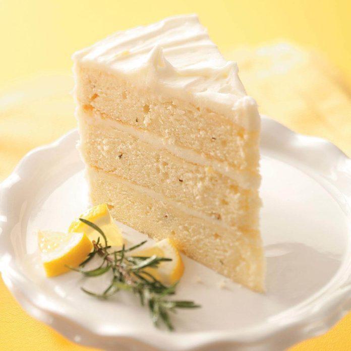 Lemon-Rosemary Layer Cake Recipe | Taste of Home